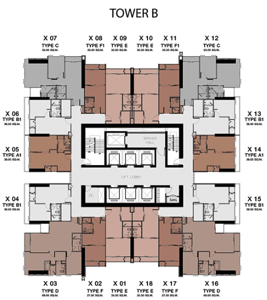one9five typical floor plan